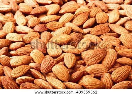 food background of dried almond #409359562