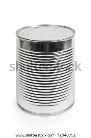 Food can isolated on white