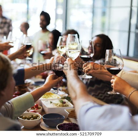 Food Catering Cuisine Culinary Gourmet Party Cheers Concept - Shutterstock ID 521709709