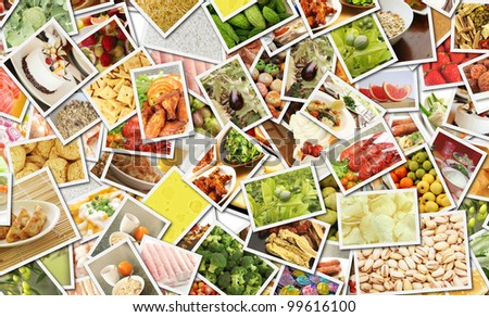 Food Collage for Catering Business Concept Art