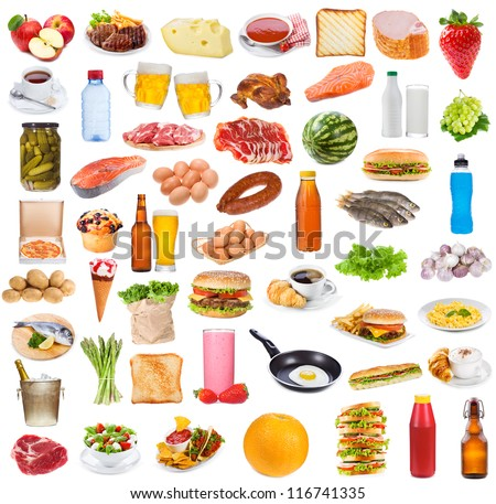 Food collection  on white background #116741335
