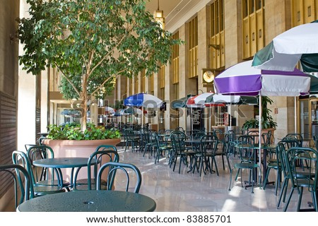 Food Court at an old train station