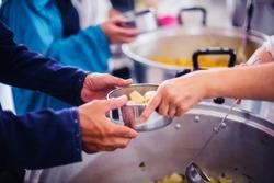 Food donation to needy, needy: providing food to needy people who need help.