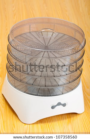 Food dryer on a table