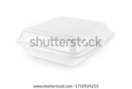 food Foam box isolated on white background
