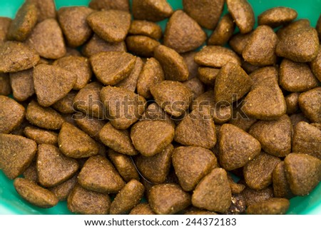 food for cats on the white background