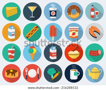 Food icons, set 2
