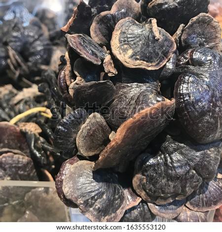food in China, mushroom drying, Hainan Island