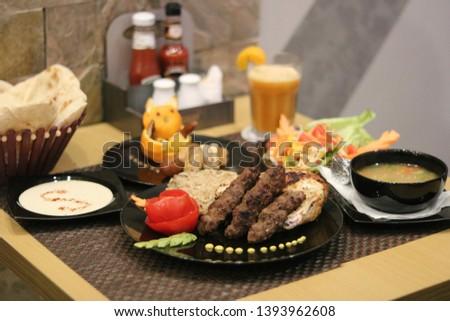 Food in Egyptian restaurant chicken