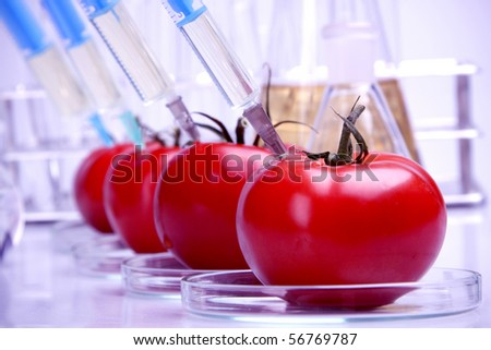 Food in laboratory, dna modify