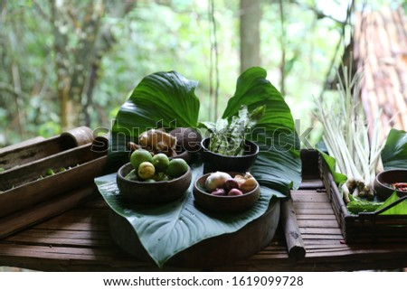 Food ingredients for making traditional Malaysian meat