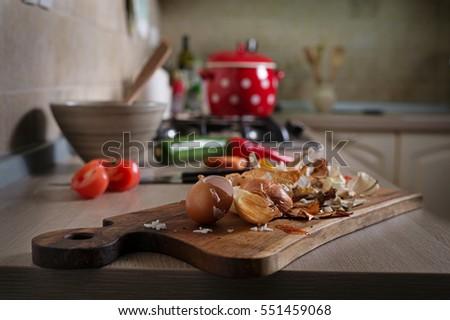 Kitchen Counter With Food kitchen counter with food