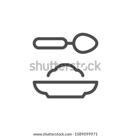Food line icon isolated on white
