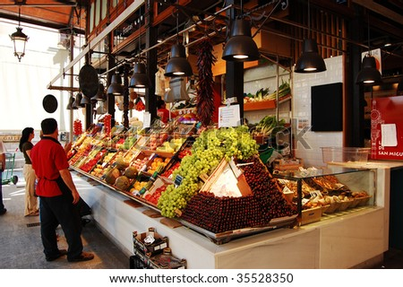 Food market in Madrid