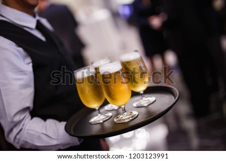 Food photography / f&b - close up shots of vibrant and colourful alcoholic beverages in glasses Stock fotó ©