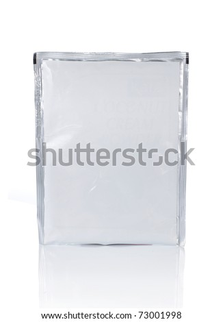 food plastic wrapping, isolated over white background