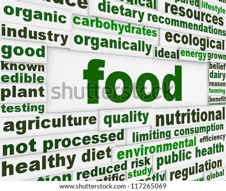 Food poster design. Natural food message concept