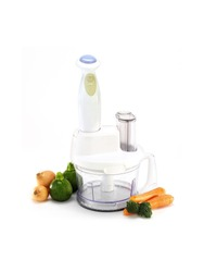 food processor and vegetables isolated