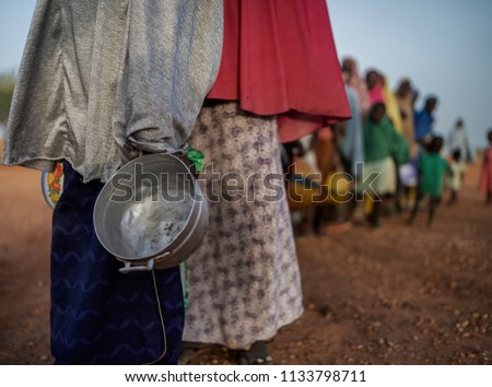 food queue in africa, hungry people Сток-фото ©