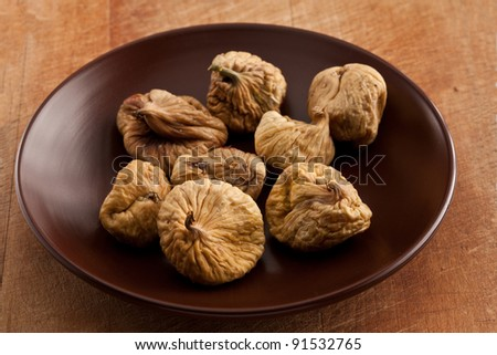 food series: some dried fig om the table