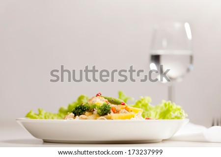 Food serving food on a plate