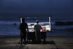 Food stall, Galle Face beach, Colombo, Sri Lanka