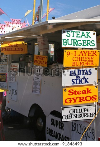 Food Stand at County Fair