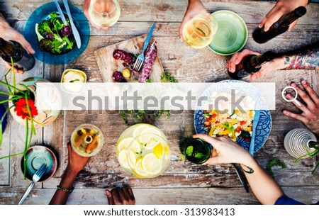 Food Table Healthy Delicious Organic Meal Concept