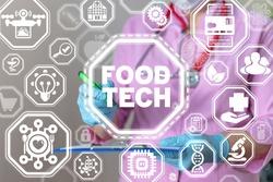 Food Tech Concept. Meal Medical Dieting Modern Smart Technology.
