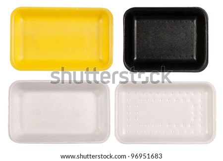 Food trays isolated on white