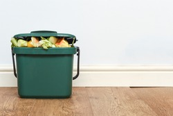 Food waste from domestic kitchen Responsible disposal of household food wastage in an environnmentally friendly way by recycling in compost bin at home