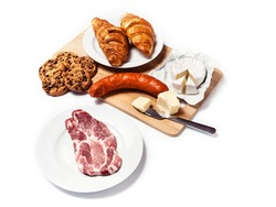 Foods with a high content of saturated fats (SAFAs)