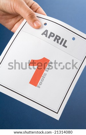 Fools' Day, calendar date April 1 for background