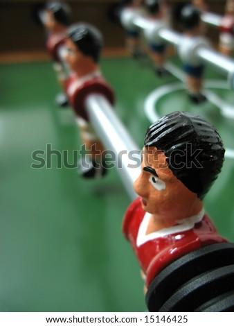 Foosball game close up