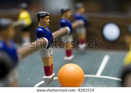 foosball game close up