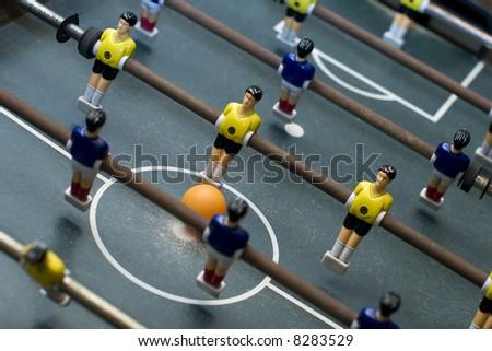 foosball game diagonal composition