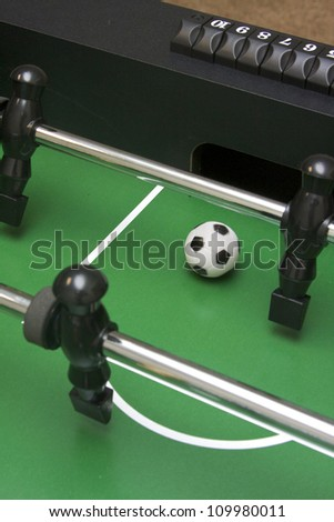 Foosball shot at the opponent's goal