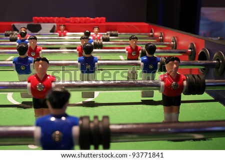 Foosball table detail