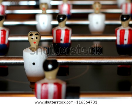 Foosball table match