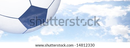 Foot Ball Illustration Set Against Clear Blue Sky