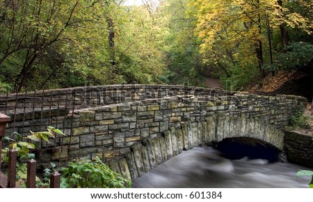 Foot bridge across Minnehaha Creek
