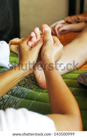 Foot massage, Reflexology concept