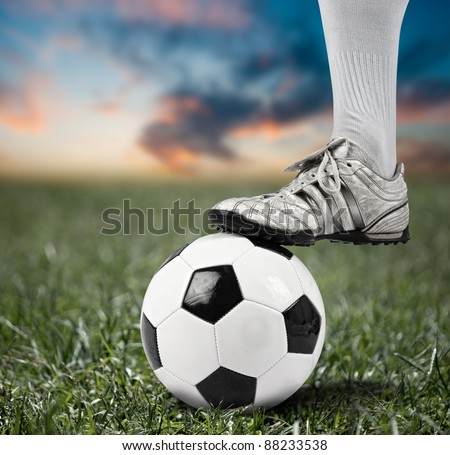 Foot of a football player