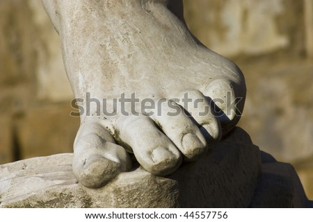 Foot of David of Michelangelo, Florence, Italy
