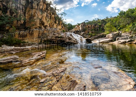 Foot of the Saw Waterfall in Capitolio, MG, Brazil