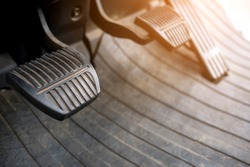 Foot pedals are levers of forklift car that are activated by the driver's feet to control certain aspects of the vehicle's operation brake pedal Car accelerator  controls.