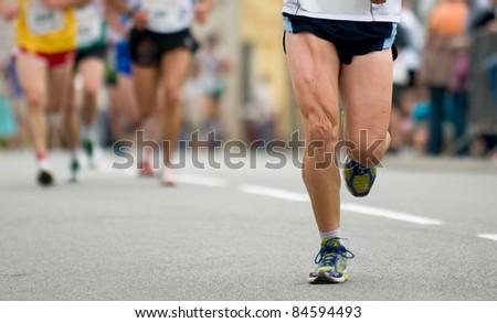 foot runner - stock photo