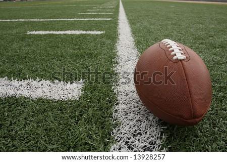 Football along the hashmarks