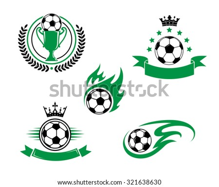 football and soccer emblem or...