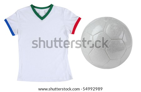 football and south african t-shirt. Isolated.